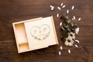 cajas de madera decoradas para boda
